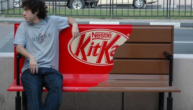 Publicidad BTL hecha por Nestlé